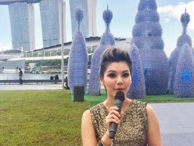 Charissa Seet hosts iLight Marina Bay Launch Ceremony 2017