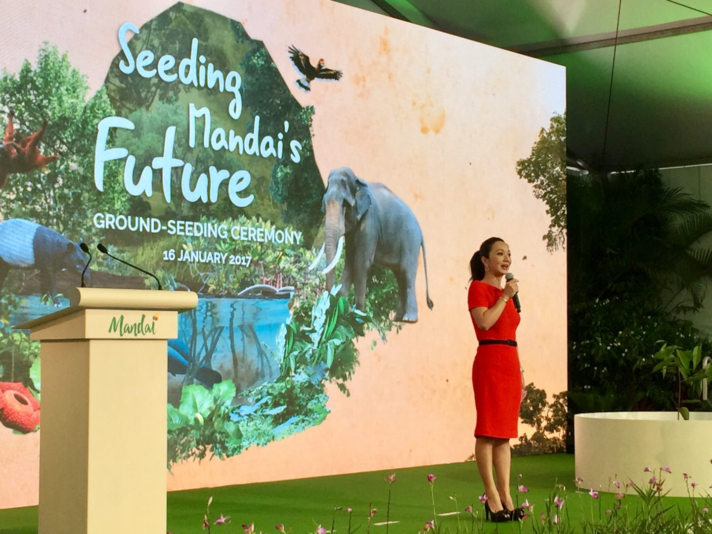 Diana Ser hosts Mandai Seeding Ceremony