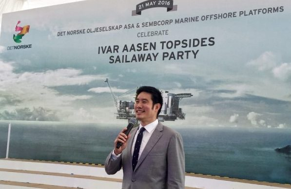 Timothy Nga hosts Ivar Aasen Topsides Sailway Launch