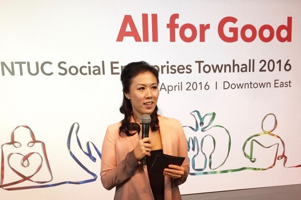 Lavinia Tan Hosts NTUC Towhhall