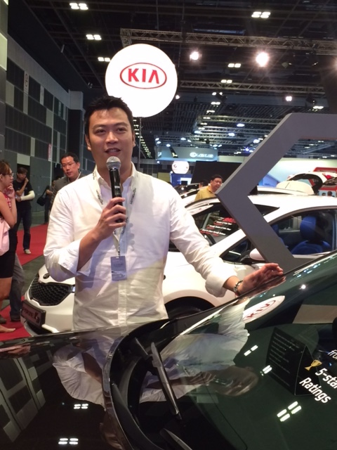 Nicholas Ng hosting The Singapore Motorshow 2016 for Cycle & Carriage