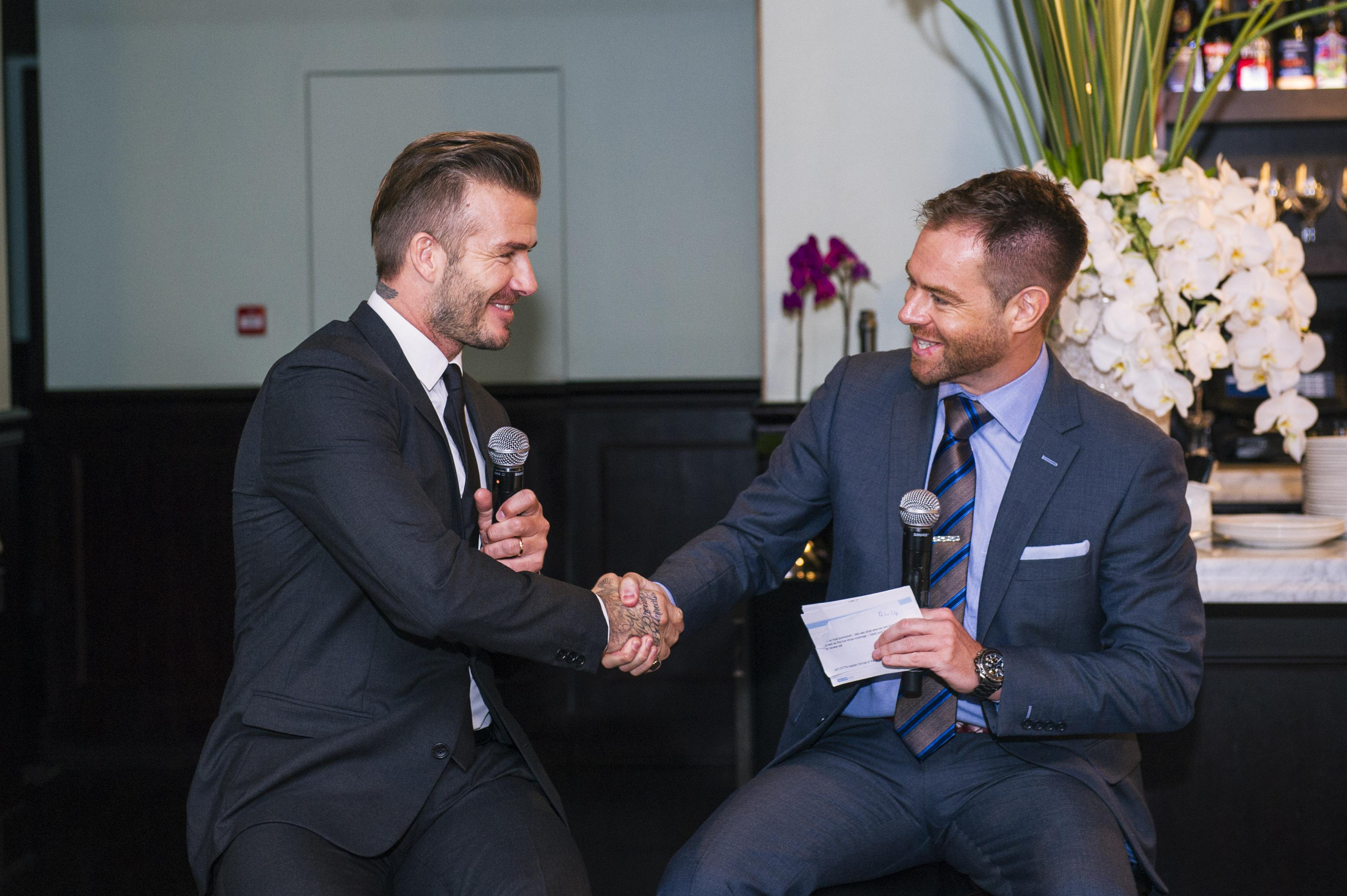 Richard Lenton Hosts Champagne Lunch With David Beckham Artiste