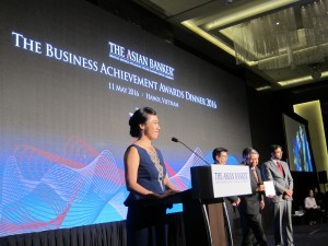 Lavinia Tan hosting the Business Achievement Awards Dinner